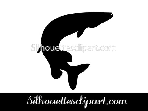 Sea Fish Silhouette Vector