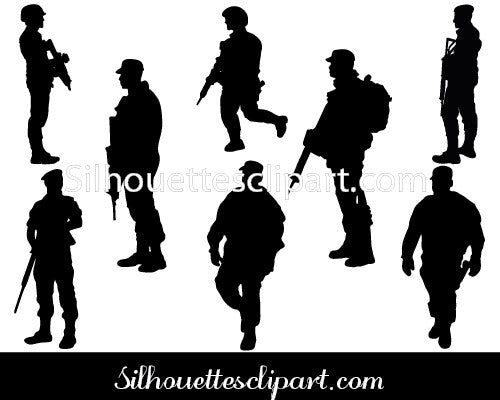 Security People Silhouette Vector