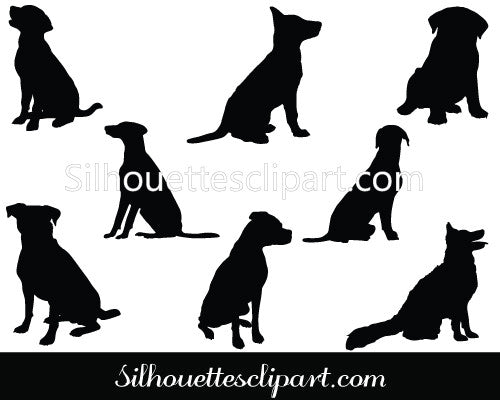 Sitting Dog Vector Graphics