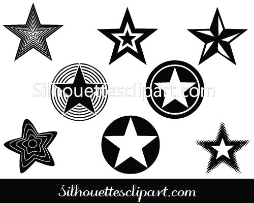 Star Silhouette Stock Vector and Illustrations