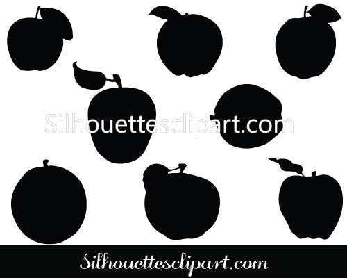 Thanksgiving Fruits Silhouette