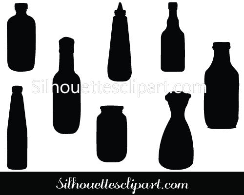 Sauce Bottle Vector Illustration