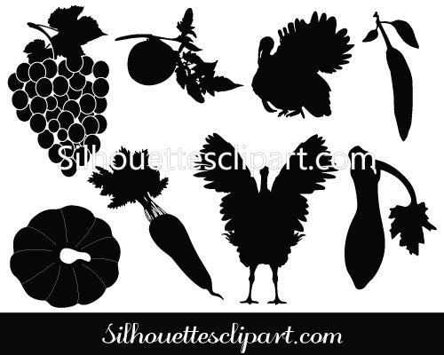 Thanksgiving Silhouette Vector