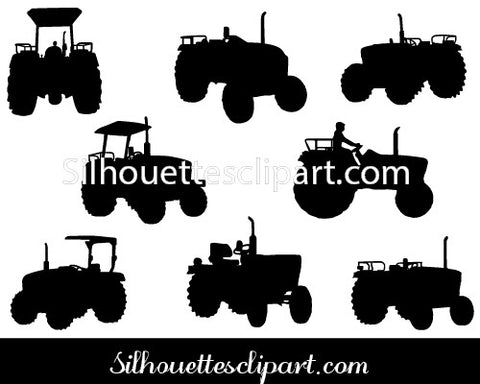Tractor Silhouette Vector Graphics Images & Pictures