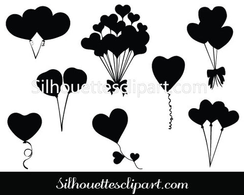 Valentines Balloon Vector