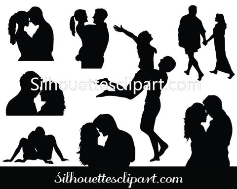Valentines Couple Vector Graphics
