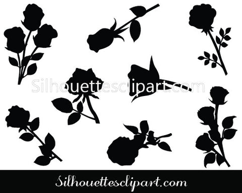 Valentines Rose Vector Graphics