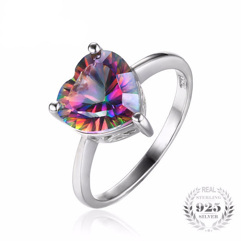 BOOS™ Rainbow Fire 2.65ct Topaz 925 Sterling Silver Ring