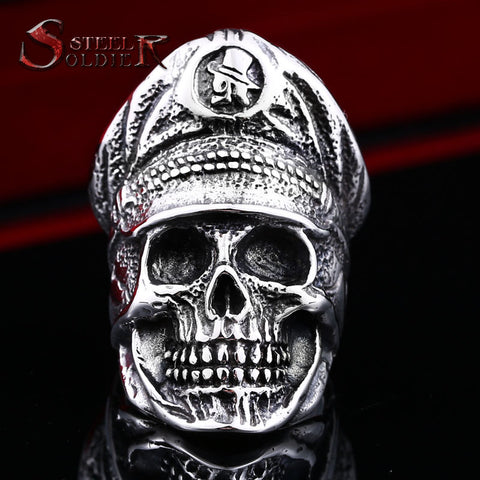 BOOS™ Steel Soldier Nazi Zombie Ring