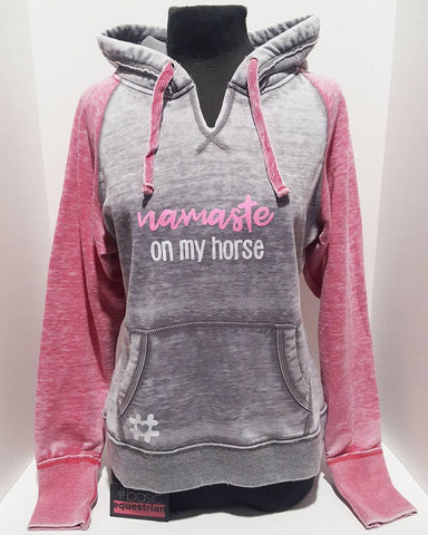 """Namaste on my Horse"" Fleece Hoodie by #basicequestrian"