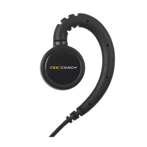 CEECOACH SINGLE EAR WIRED HEADSET WITH INLINE MICROPHONE