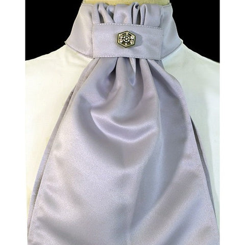 Ruffled Stock Tie - Lavender Satin by Equi-Logic