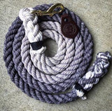 Hand Dyed Lead Ropes by Gray & Co. Designs