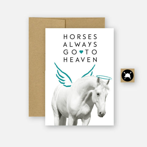 Hunt Seat Paper Co Greeting Card - All Horses Go To Heaven