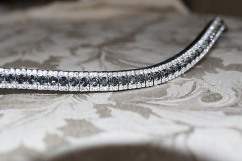 Equiture - Nightfall and Clear Crystal Curve Luxury Bling Browband