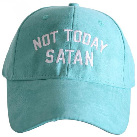 """Not Today Satan"" Ultrasuede Baseball Cap"