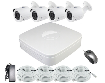 720p Four Channel H.264 POE NVR & IP Camera Kit ACN2004PDF1S100 (Bullet camera)