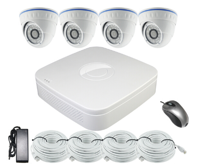 720p Four Channel H.264 POE NVR & Ip Camera Kit ACN2004PDF2S100 (Dome Camera)