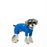 dog shirts, dog pajama, dog jumpsuit, pajama, Schnauzer, jumpsuit, velcro, dog sweater, handmade, dog shirt, dog winter, warm clothing, for dog, dog clothing, pet clothes, made in korea, clothing for dog, shirt for dog, clothes for dog, blue