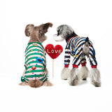 sesame street,dog shirts, dog pajama, dog jumpsuit, pajama, Schnauzer, jumpsuit, velcro, dog sweater, handmade, dog shirt, dog winter, warm clothing, for dog, dog clothing, pet clothes, cotton, made in korea, clothing for dog, shirt for dog, clothes for dog, green, pink, stripes clothing, pa