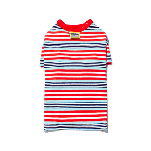 Multi Stripe T Red/Mint