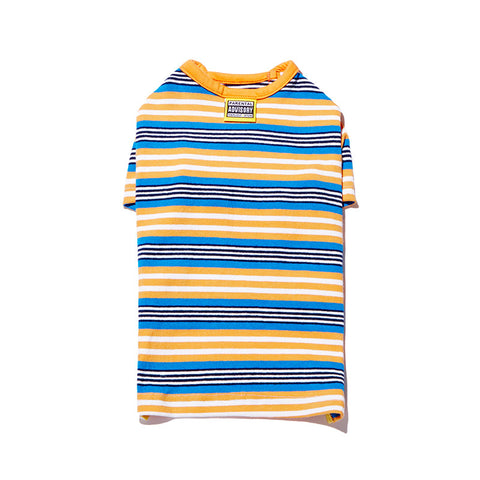 Multi Stripe T Orange/Blue