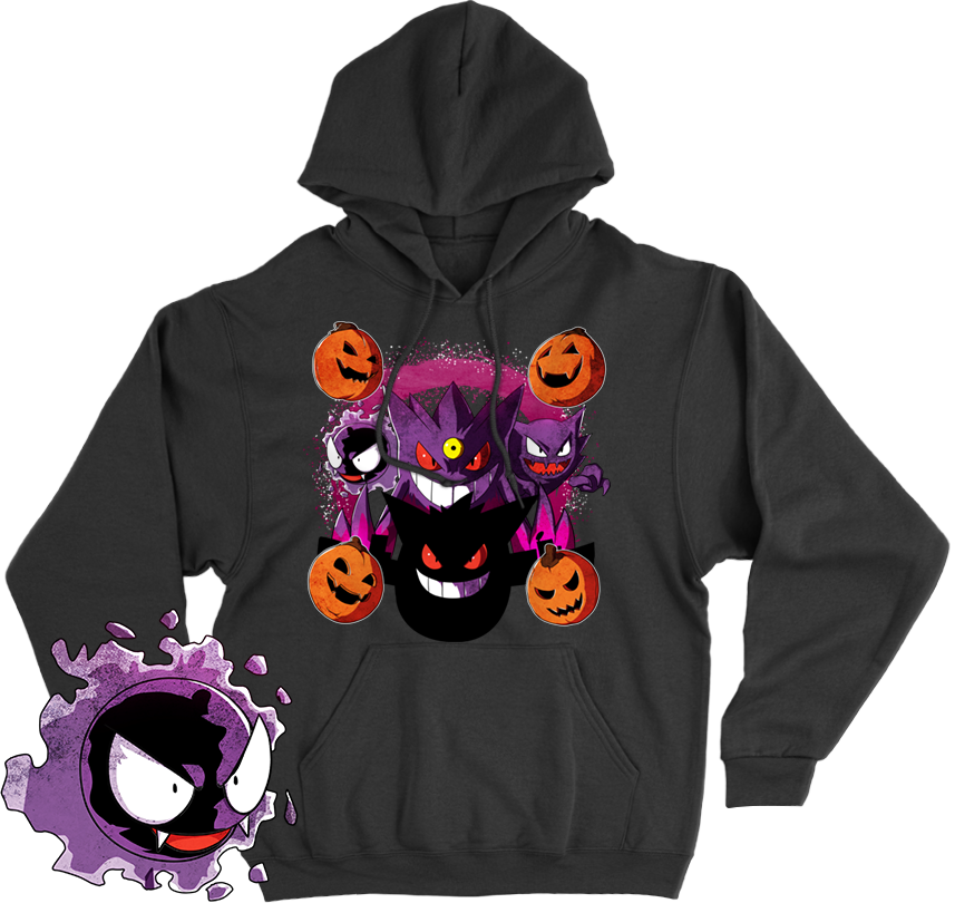 fc74df54d Ghost Pokemon Ghastly Haunter Gengar Halloween Autumn Fall Shirt | Threadfox