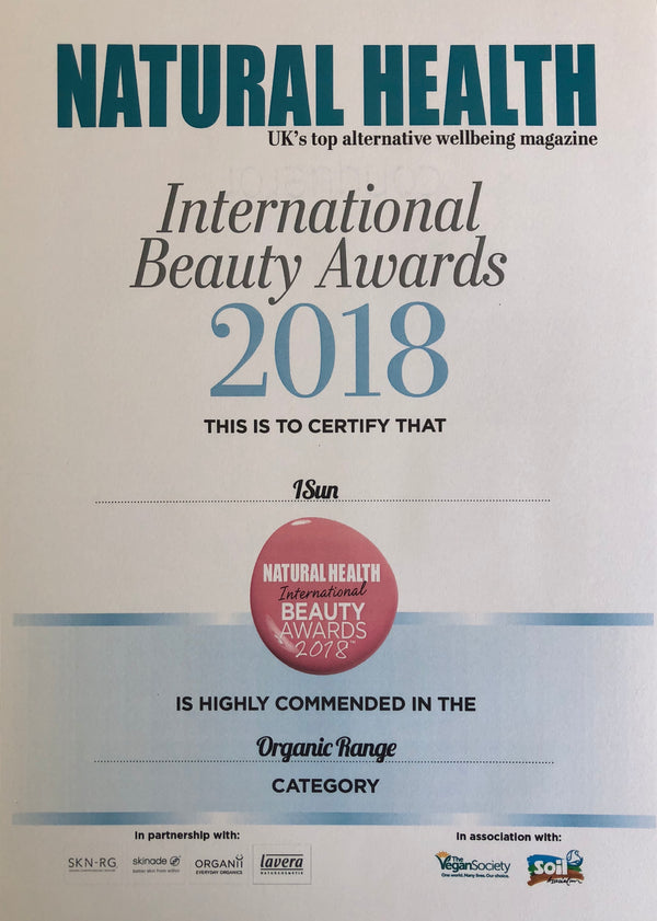 Natural Health International Beauty Awards 2018