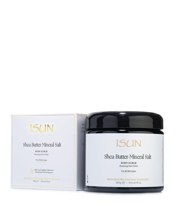 Shea Butter-Mineral Salt-Exfoliant-ISUN Skincare UK
