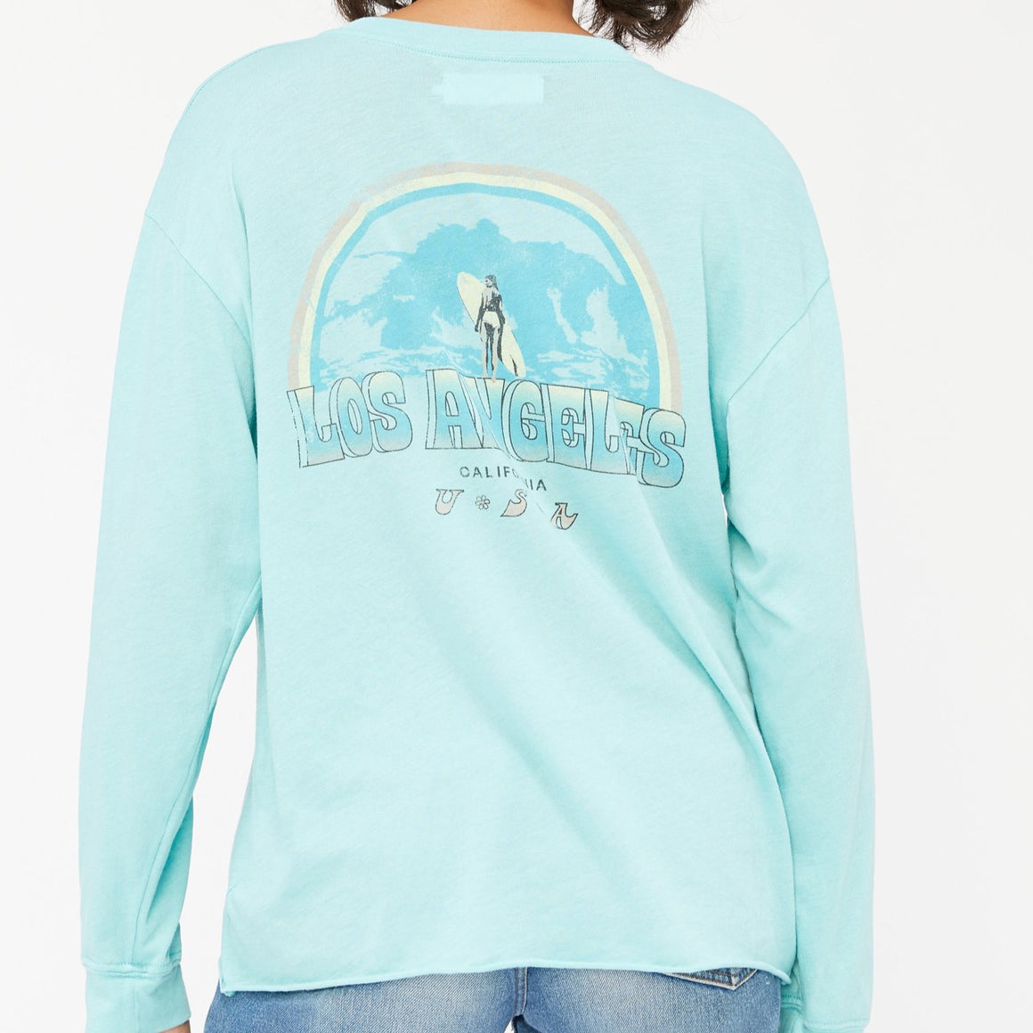 Lacausa Long Sleeve Crewneck Ocean