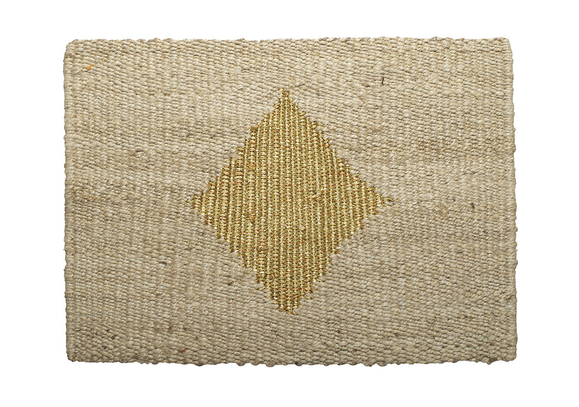 Langdon Ltd Diamond Doormat Gold