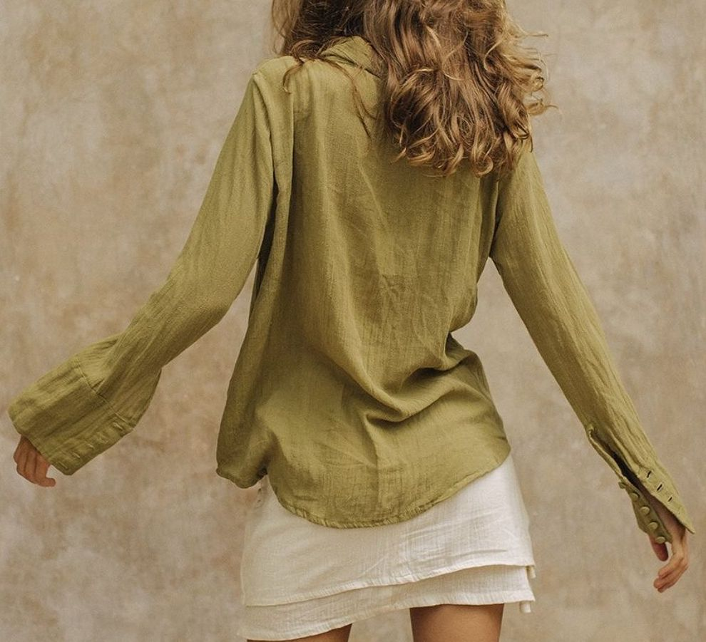 Savannah Morrow Leo Shirt Olive