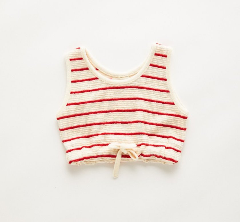 Zulu & Zephyr Mini Towel Tank Sunset Stripe