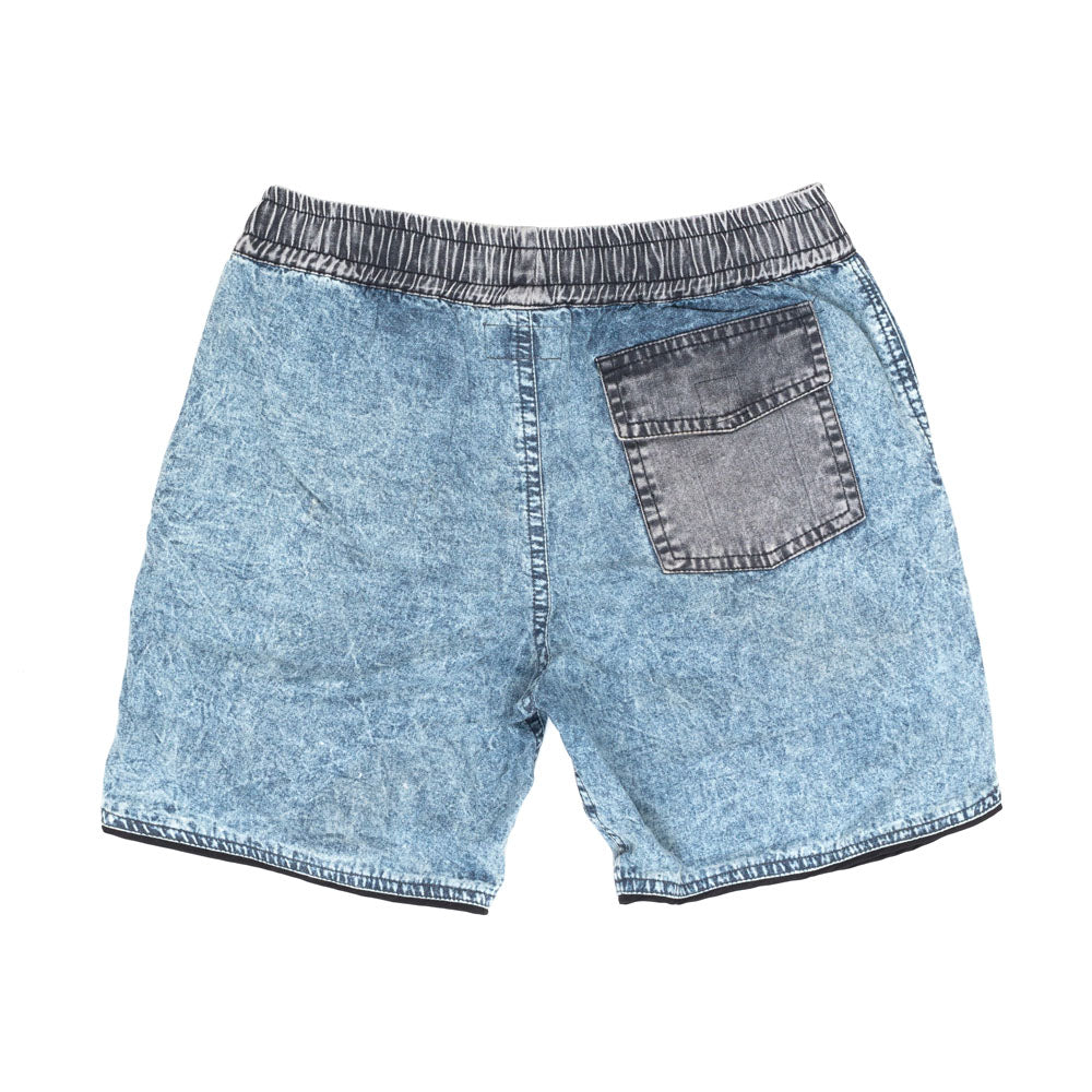 Children of The Tribe Chambray Acid Drawstring Shorts
