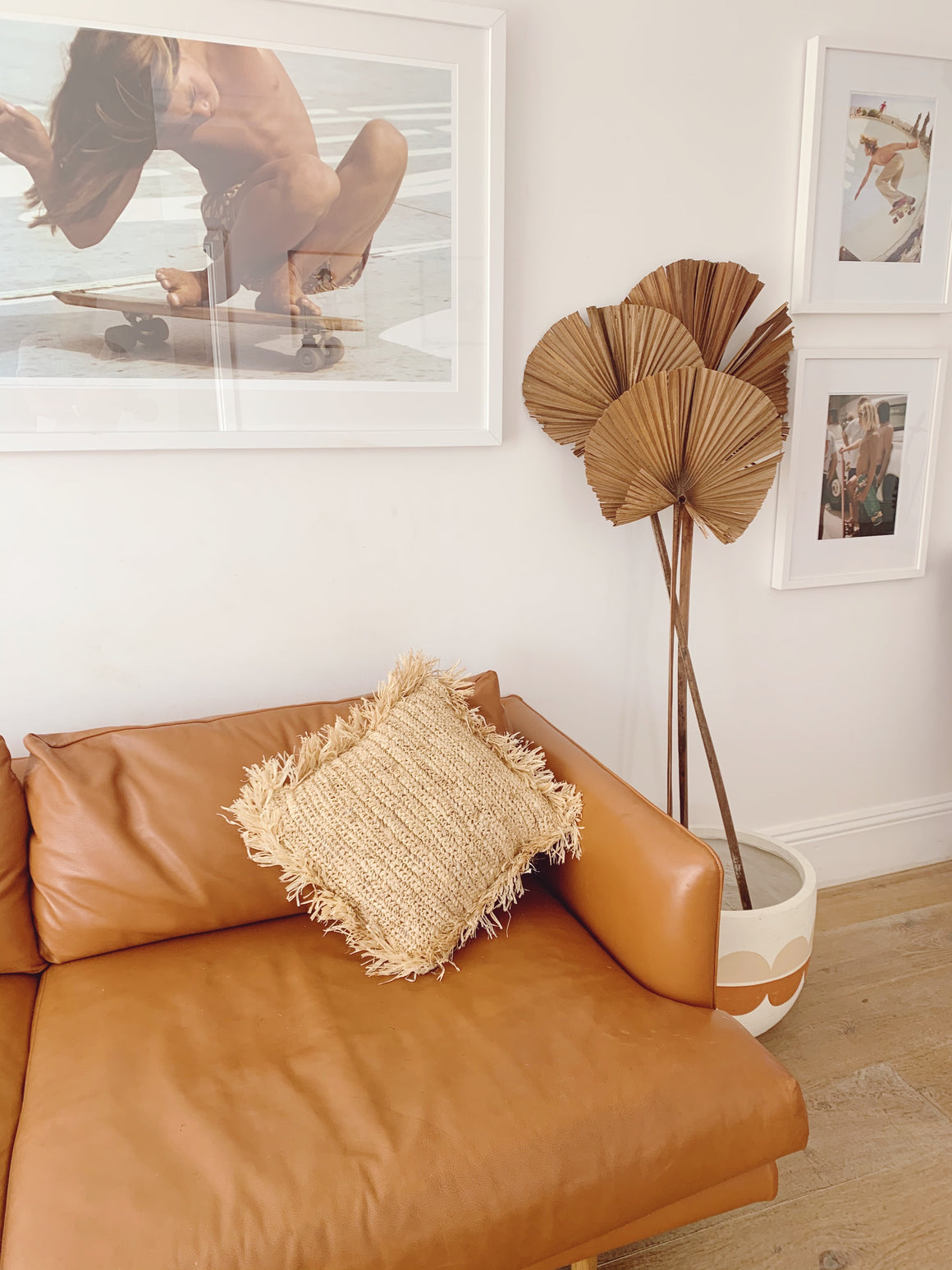 Commune Fringe Raffia Floor Cushions