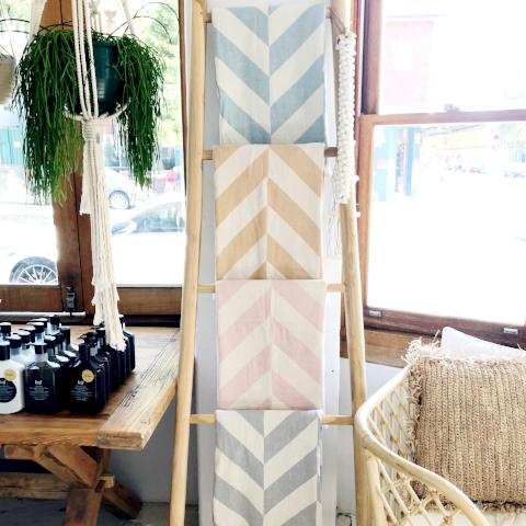 Atolyia Chevron Jaquared Throw/Towel