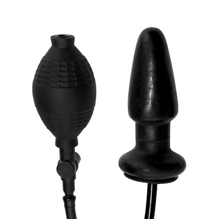 Expand - Inflatable Anal Plug (Clear, Black)