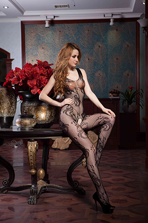 Mesh Bodystocking - XL