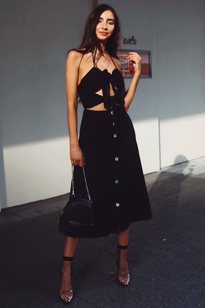 Penny Midi Dress - Black