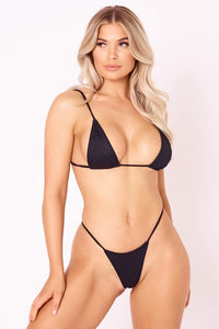 The Skinny Dip Thong - Black