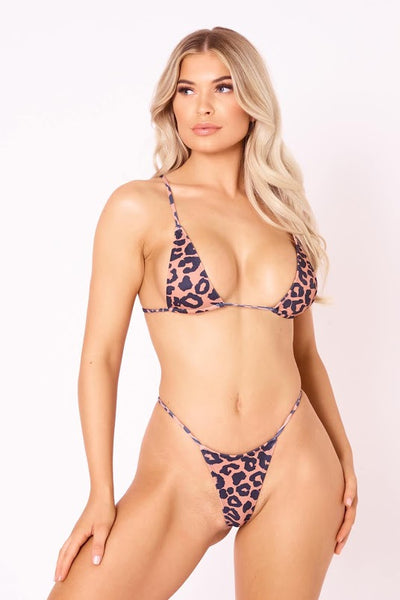 The Skinny Dip Thong - Leopard