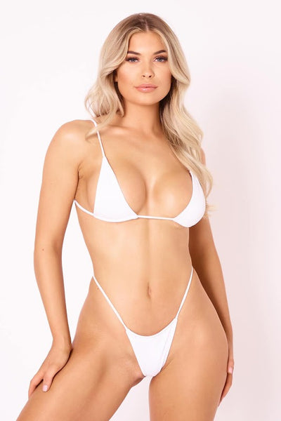 The Skinny Dip Thong - White