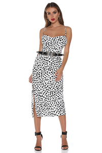 Bedrock Slip Dress - Black Spot