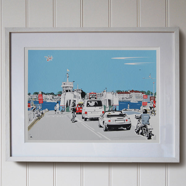 Chain Ferry print (framed)