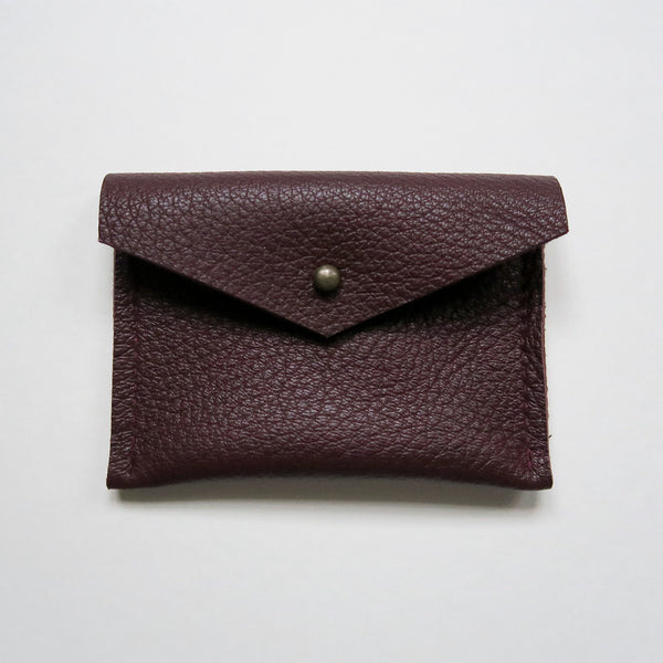 Leather Card Case - Burgundy