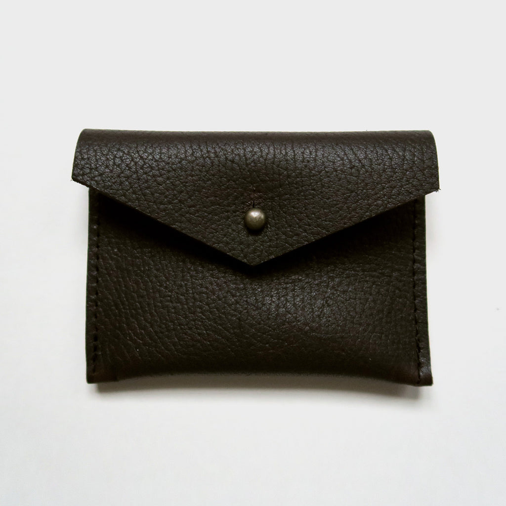 Leather Card Case - Brown Pebbled