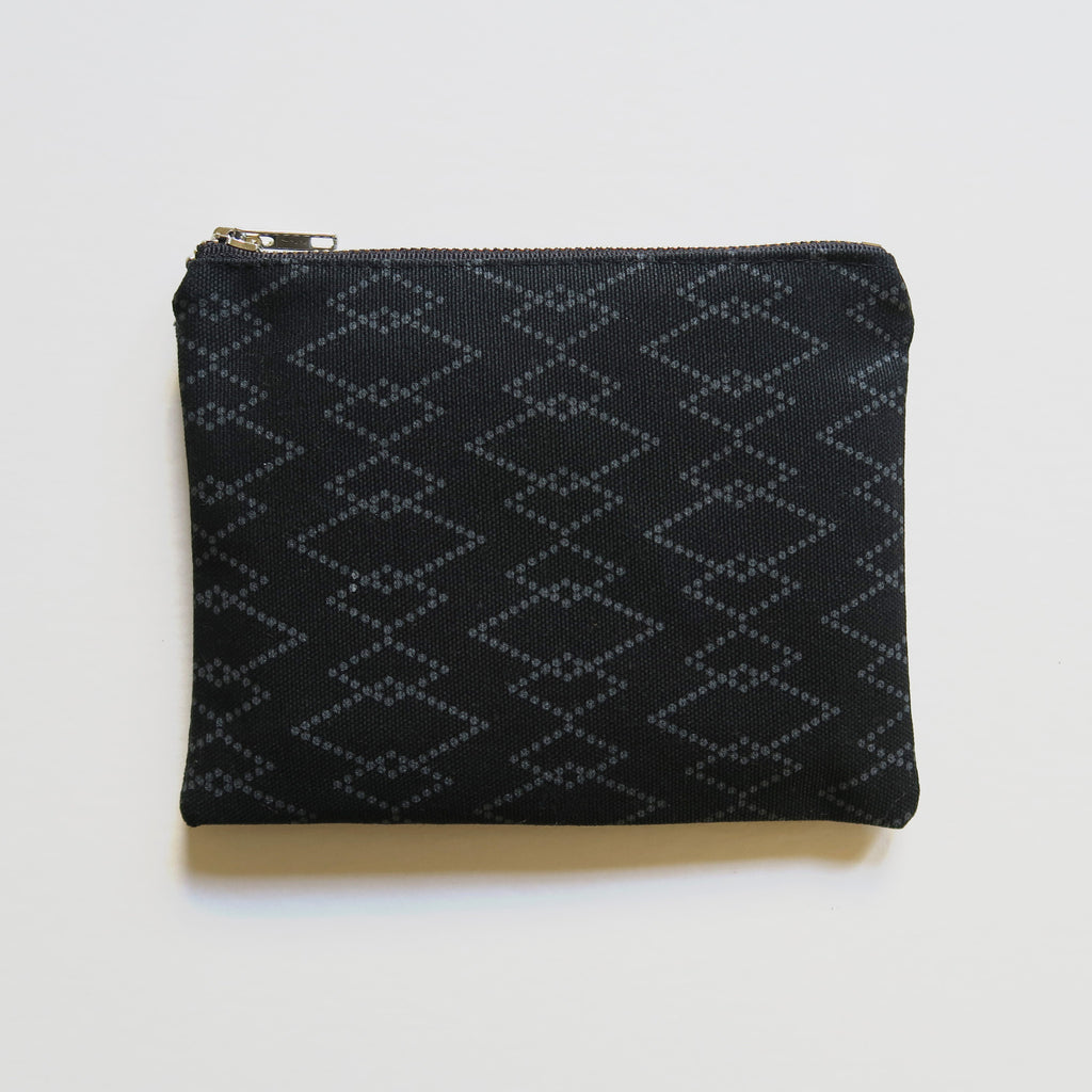Medium Zip Pouch 'Canyon' Black/Gray