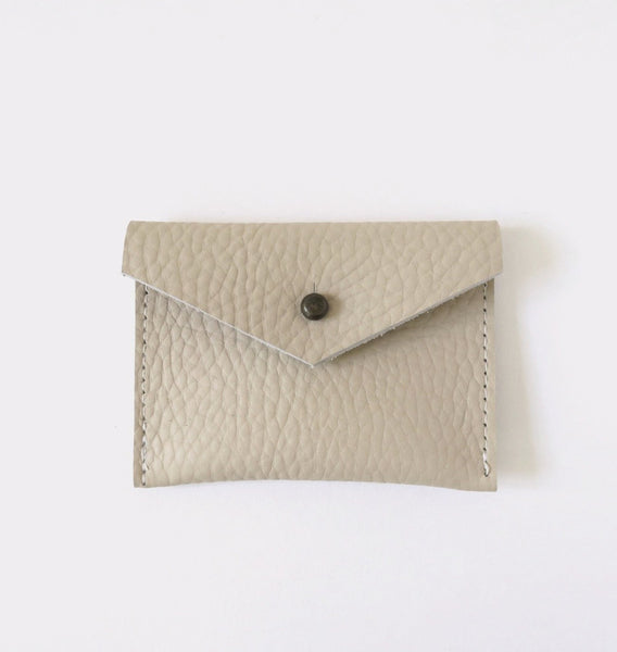 Leather Card Case - Ivory