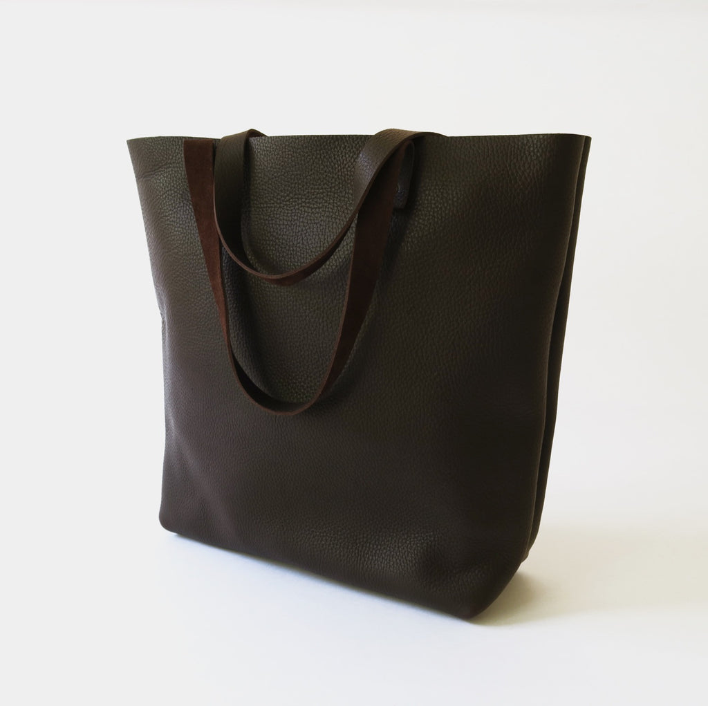 Leather Tote in Brown
