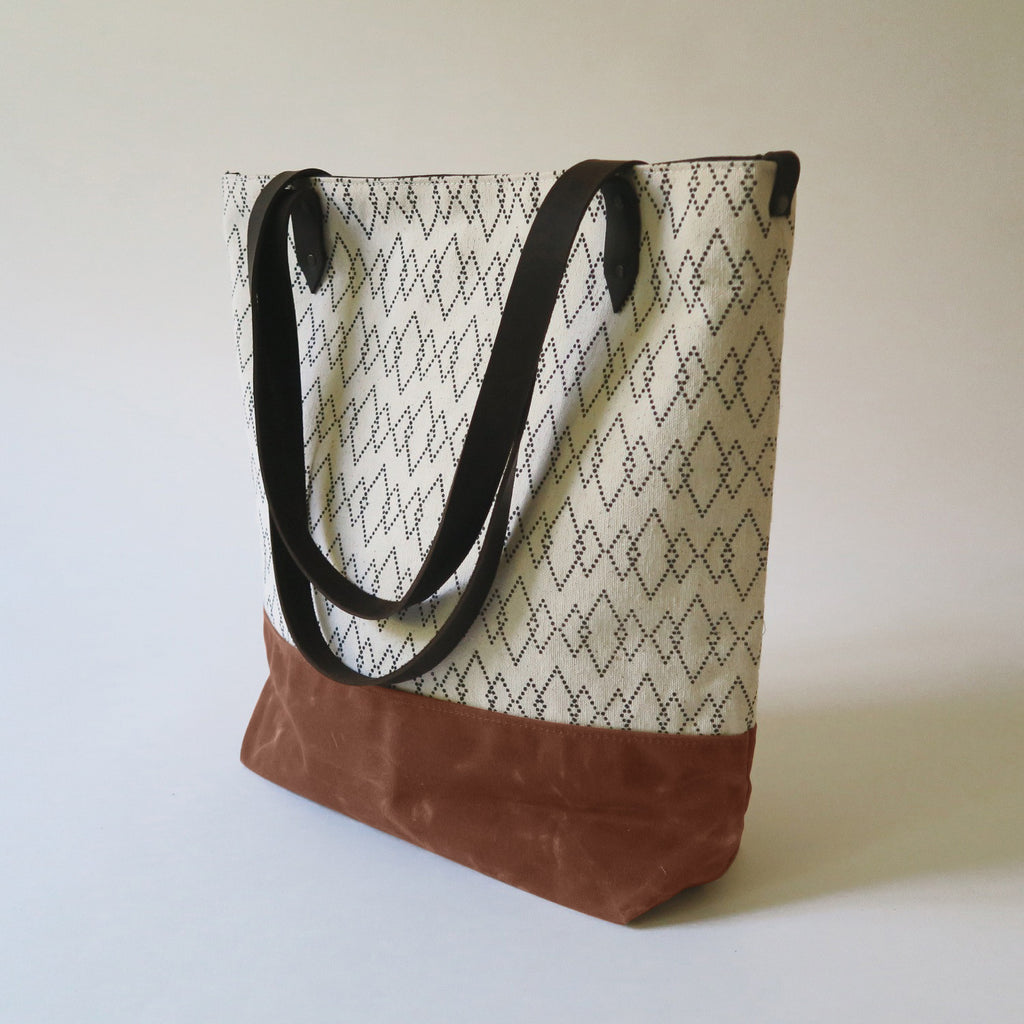 Canvas Tote Bag 'Canyon' White/Tan